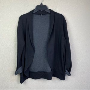 Express Large Open Front Cardigan Sweater Gray